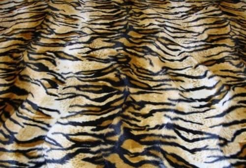 Upholstery Faux Fur Siberian Tiger Gold Fabric 58