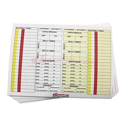 10 Cartoncini ricambio (formato a 7 sostituzioni) per Taccuino ARBITRO