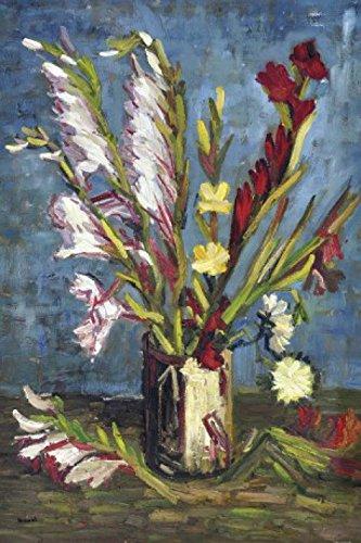 1art1 Vincent Van Gogh - Vase Mit Gladiolen, 1886 Selbstklebende Fototapete Poster-Tapete 180 x 120 cm