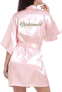 NEW Personalised Wedding Robe Kimono for Bride Bridesmaids etc Dressing Gown
