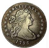 Rare Antique USA United States American 1796 Liberty Silver Color Dollar Coin