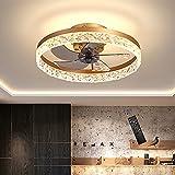 Plafoniera LED con Ventilatore,220-240V,6 Velocità Regolabili e 3 Colori Chiari Regolabili,Timing...