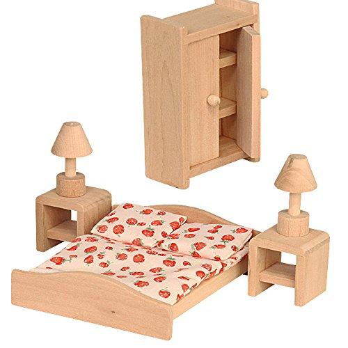 beluga Spielwaren 70116 Puppenhausmöbel Schlafzimmer, Multicolour