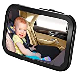 Detachable Backseat Baby Car Mirror – Clear Wide Angle View of Toddler Newborn, Infant or Children – Safe...