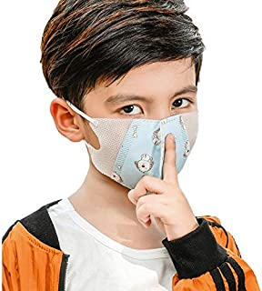 For Paint Random Gloss Delivery, 3-12 Years Kids (Girls) Disposable Melt-blown 4-layered Protection PM2.5 Dustproof Face Mask (Color : Color2)