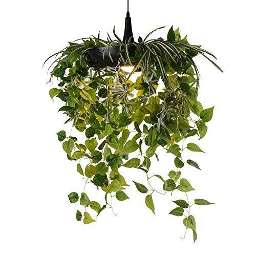 Kronleuchter Nordic Creative Hängelampe Luftgarten Topfpflanze Kronleuchter Dekoration Restaurant Balkon Kunst Babylon Grün Pflanze Blumentopf Pendelleuchte