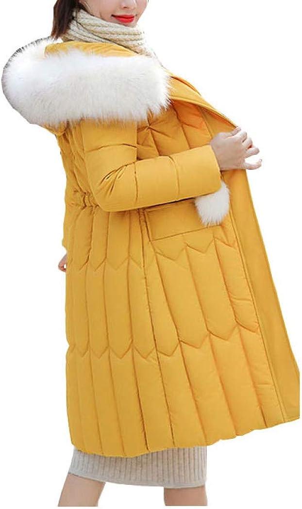 Chic Faux Fur Coat Hooded Winter Down Coat Warm Jacket Plus Size Long Slim Women Female 9 Colors Outerwear