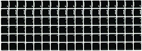 【 Dream Sticker 】モザイクタイルシール キッチン 洗面所 トイレの模様替えに最適のDIY 壁紙デコレーション ALT-19 ブラック Black 【 自作アートインテリア/ウォールステッカー 】 貼り方説明書付属 (1枚)