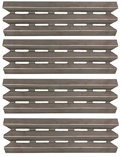 Votenli S9602A (4-Pack) Stainless Steel Heat Plate Replacement for Broil-Mate, Huntington, Broil King, Sterling, Rebel, Patriot, Baron and Others