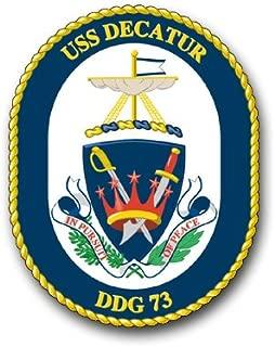 US Navy USS Decatur DDG-73 Military Veteran Served Window Bumper Sticker Vinyl Decal 3.8