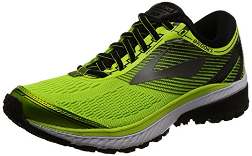 Brooks Men's Ghost 10 Running Shoes, Yellow (Lime Popsicle/Black/Metallic Charcoal), 7 UK (41 EU)