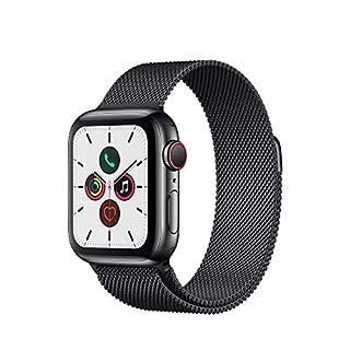 Apple Watch Series 5 (GPS+Cellular, 40 mm) Edelstahlgehäuse Space Schwarz - Milanaise Armband Space Schwarz (B07XLF8S17) | Amazon price tracker / tracking, Amazon price history charts, Amazon price watches, Amazon price drop alerts
