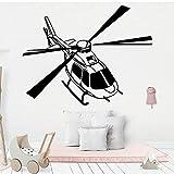 Tianpengyuanshuai Art Mural d'hélicoptère Wall Sticker Room 33X43cm