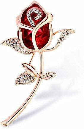 Stockton Women 's Brooch Pin Crystal Rhinestone Rose Flower Brooch