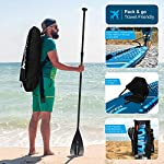 """AQUA SPIRIT 10FT 6"""" x 15cm iSUP Inflatable Stand up Paddle Board for Adult Beginners/Intermediate Max load 150KG with Backpack, Leash, Paddle, Changing Mat & Waterproof Phone Case"""