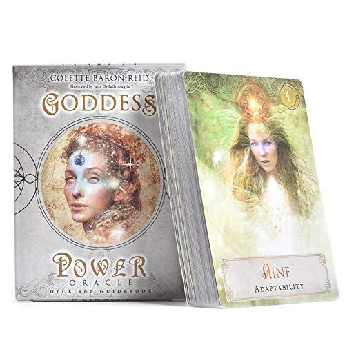 LPWCAWL Tarot Karten, Goddess Power Oracle Cards, Englische Wahrsagen Spielkarte, Brettspiele für Erwachsene und Kinder, 52 Karte