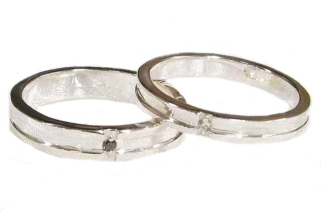 隣人とティームパスタペアリング 結婚指輪 ダイヤモンド 2本セット 手作り オーダーメイド シルバー925