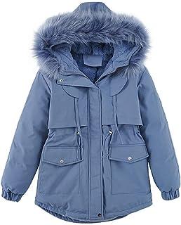 """""""N/A"""" Ropa de invierno de algodón grueso con capucha, cuello de piel de algodón"""