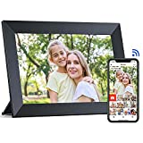 ARUNGO WiFi Digital Picture Frame with 16GB Storage IPS Touch Screen Photo Share via Free Frameo APP Auto-Rotate 10.1 Inch Black