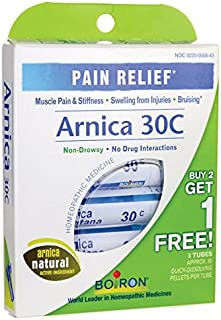 Arnica 30 C Great Value 3 Tubes Pack Boiron 3 Tubes (Pack of 1)