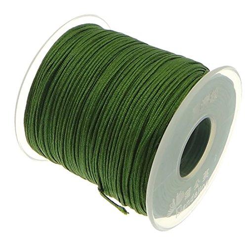 My-Bead 90m Nylonband Kordel 1mm grün wasserfest Nylonschnur Top Qualität Schmuckherstellung basteln DIY