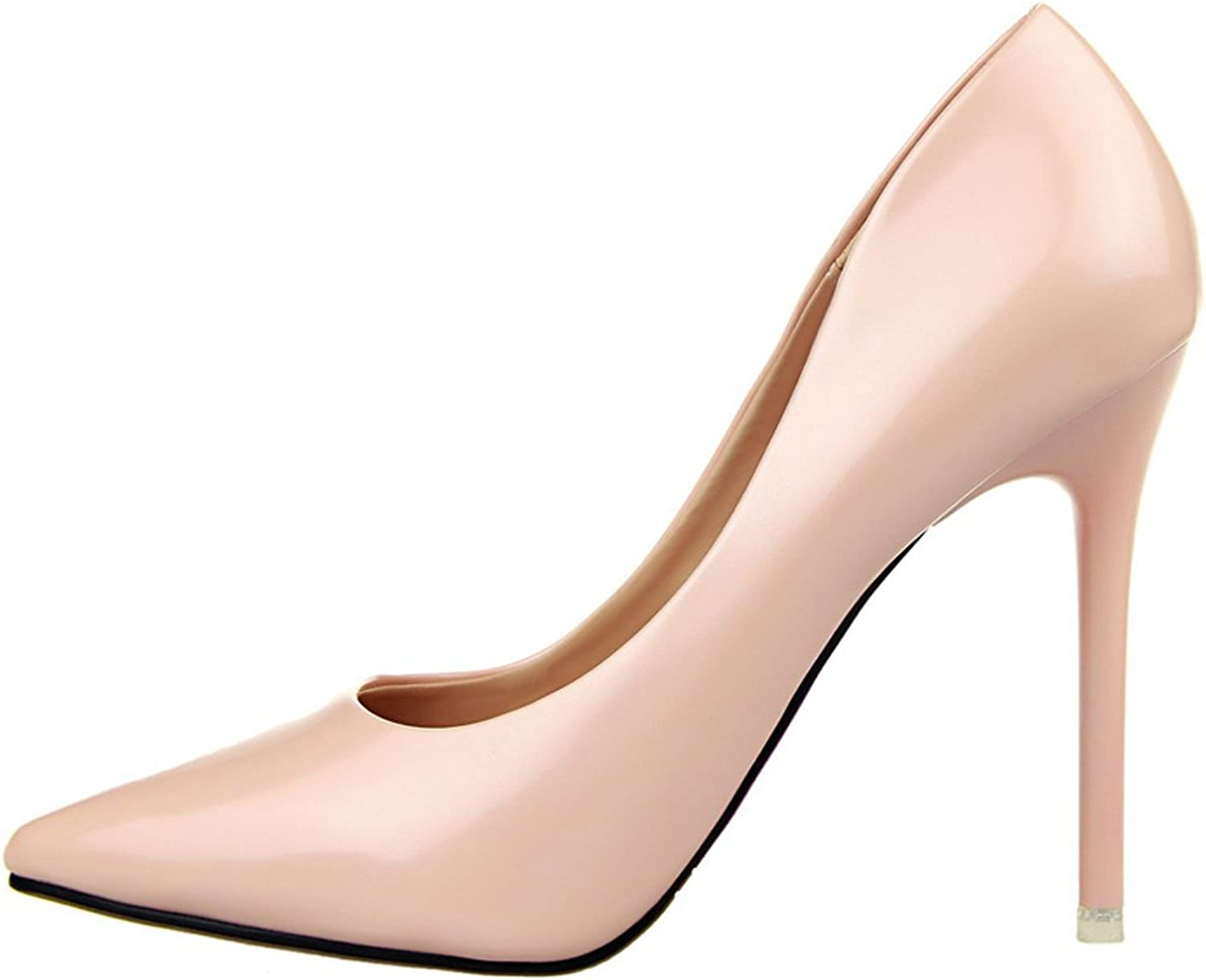 BIGTREE Patent Leather Women's Pointed Toe High Heels Dress shoes Stiletto Pumps