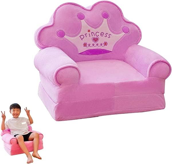 Children S Sofa Backrest Chair Cute Plush Toy Stuffed Foldable Children S Chair Purple