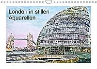 London in stillen Aquarellen (Wandkalender 2022 DIN A4 quer): Londons zauberhafte Sehenswuerdigkeiten (Monatskalender, 14 Seiten )