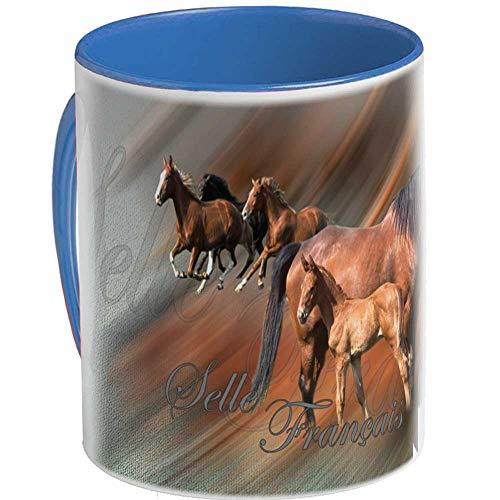 Pets-easy Mug photo de cheval selle francais poulain