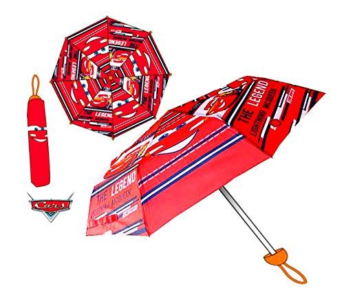 Disney Pixar Cars Regenschirm faltbar mit Schutztasche