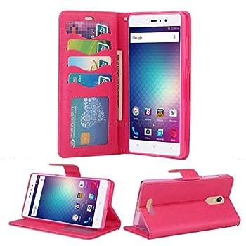 BLU Vivo 5R case NFW} PU Leather [Card Slot][Flip][Wallet][Kickstand Feature][Cash Pocket][Wrist Strap] Case Cover for BLU Vivo 5R  V0090UU  Wallet Pink