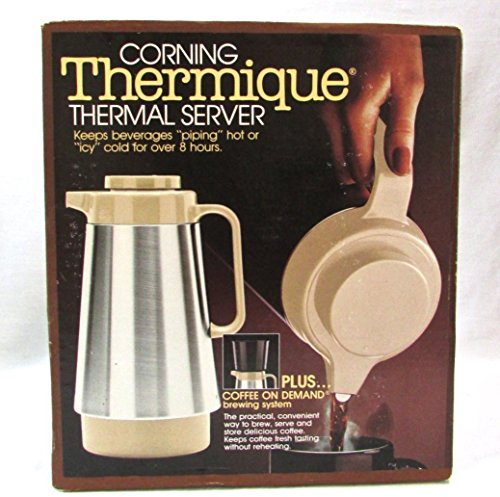 Corning Stainless Steel Thermique Thermal Server Coffee On Demand Brewing System