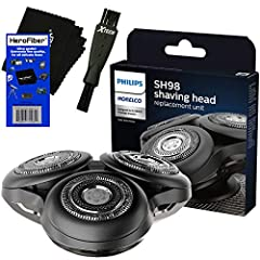 This kit includes: Philips Norelco Series SP6800 (S9000 Prestige) Replacement Shaving head SH98/72, Double Ended Shaver Brush & HeroFiber Ultra Gentle Cleaning Cloth COMPATIBLE WITH: Philips Norelco SP9800 Series (S9000 Prestige); P9820/12, SP9820/72...