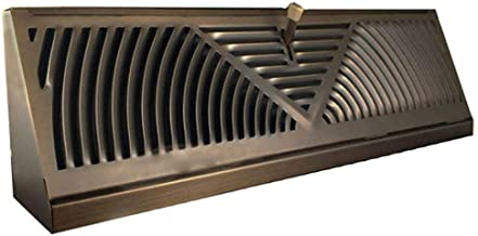 Oil-Rubbed Bronze Finish Baseboard Register (18 Inch, Oil Rubbed Bronze)
