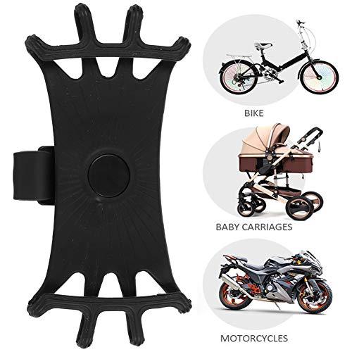 Silikon Fahrradhalterung Halterung 360 Grad Elastische Gummi Handy Lenkerhalter Kinderwagen Stoßfeste Telefonriemen Standhalterung für Fahrrad Motorrad