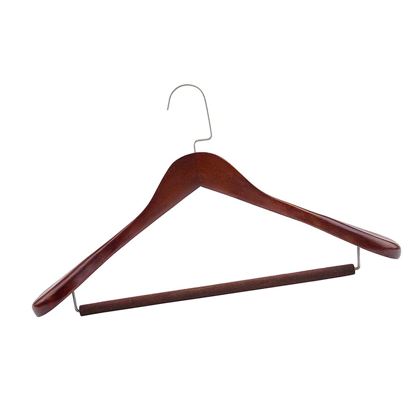 シュガーなめらかな想像力豊かな木製ハンガー コート スーツ 衣類 ワードローブ ウッドハンガー ズボンハンガー - L