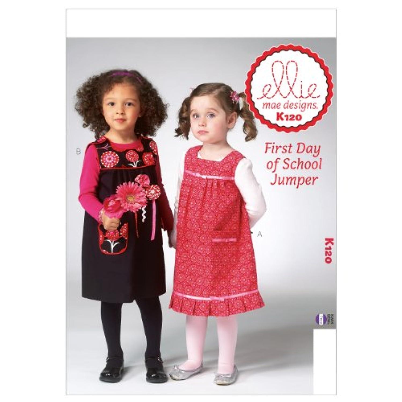 KWIK-SEW PATTERNS K0120 Toddlers Jumper Sewing Template