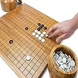 Chess Set, Go Game Ajedrez chino Go Set con bambú, Go Game Bamboo Go Tablero, tablero de bambú, incluye cuencos y piedras, tablero de ajedrez Weiqi Educational Games Go Game Development Of Intellectua