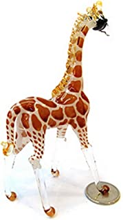 Ebros Large Mosaic Twin Giraffe Couple Statue 12.5Tall Safari Savannah Standing Reticulated Giraffe Husband And Wife Long Neck Animal Figurine Decor Perfect Valentines Day Anniversary Birthday Gift