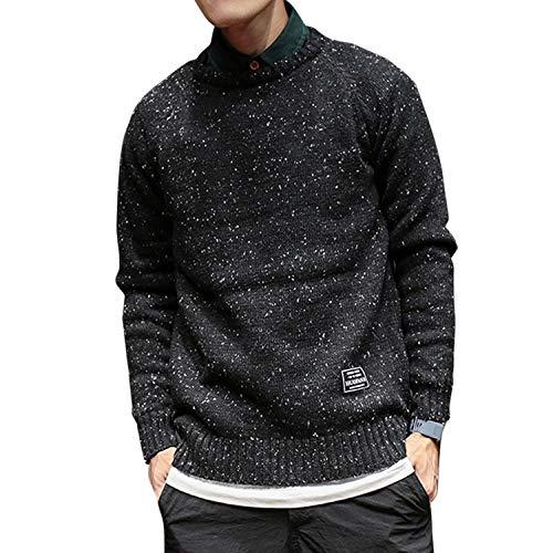 Zsweet oversized winter mannen trui zwart lange mouwen trui mannen trui truien geen hals mannen trui