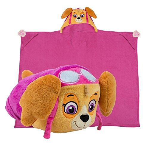 Manta de felpa de animal de peluche Comfy Critters – Paw Patrol Skye – Almohada y manta para niños, perfecta para jugar fingir, viajar, tiempo de siesta