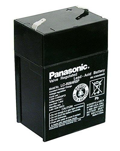 Blei-Akku (Panasonic) Panasonic: LC-R064R5P (Faston 187 - 4,8mm)