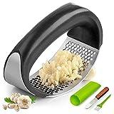 Garlic Press Rocker, Stainless Steel Garlic Mincer Crusher Professional Kitchen Gadgets Garlic...