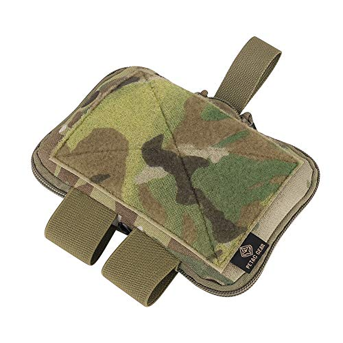 PETAC GEAR Tactical Belt Medical Pouch Compact Admin Pouch EMT First Aid Pouch IFAK Utility Pouch Trauma Kit Organizer Tourniquet Holder (Multicam)