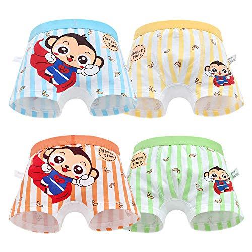 Bayrick ouvert höschen4er Pack Jungen Boxershorts Baumwollunterwäsche für Kinder von 3-8 Jahren-Superman-AFFE_XXL