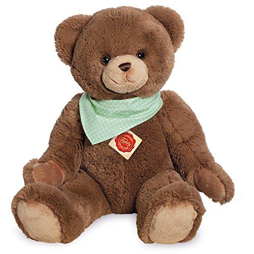 Teddy Hermann 913115 Teddy mit Tuch Plüsch, schokobraun, 50 cm