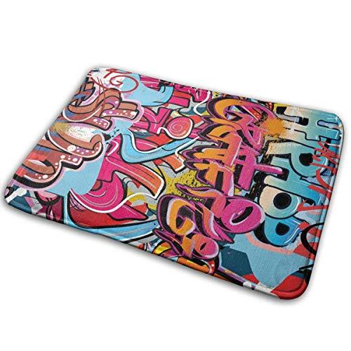 Odelia Palmer Paillassons Graphique Hip Hop Street Culture Harlem New York City Wall Art pulvérisation oeuvre thème Image Multicolore Tapis d'extérieur 23,6 'x15,7'