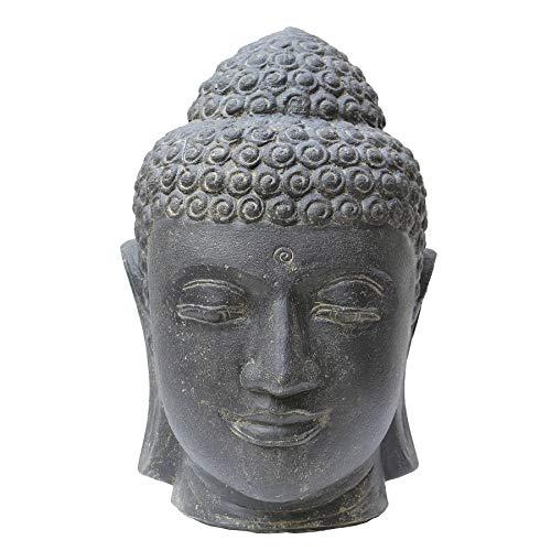 STONE art & more Buddha-Kopf, 50 cm, Steinfigur, Steinguss, frostfest