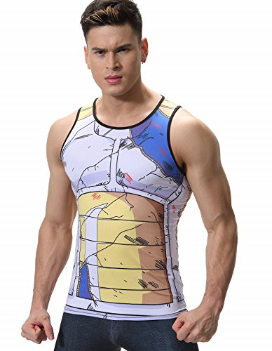 Cody Lundin Hombres Chaleco Mezcla impresión película Personaje Logo Camiseta Hombre Hombres sin Mangas t-Shrit (XXL, Color-b)