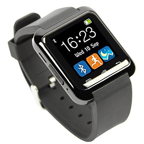 HAMSWAN Smartwatch Andriod Multi-Idiomas Reloj Inteligente Bluetooth 4.0 Smart Watch con la Pantalla Táctil Compatible con Android Todos Tipos Smartphones como Samsung Huawei Sony HTC LG (Negro).